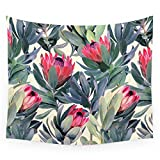 (US) Society6 Painted Protea Pattern Wall Tapestry Small: 51