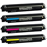 SPS 126A / CE310A / CE311A / CE312A / CE313A BLACK CYAN YELLOW MAGENTA ( COMPLETE SET ) Compatible toner cartridge for HP LaserJet Pro CP1025 Color Printer ,HP LaserJet Pro 100 color MFP M175a , HP LaserJet Pro CP1025nw Color Printer , HP TopShot LaserJet Pro M275 MFP