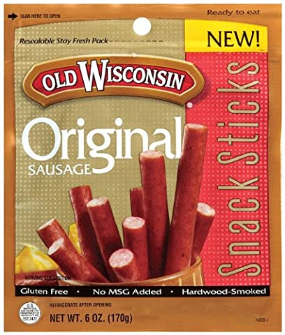 Old Wisconsin Snack Sticks, Original, 6-Ounce Package - Old Wisconsin Snack Sticks