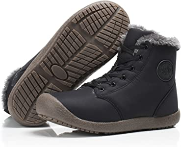 Dannto Snow Boots High Top Waterproof Outdoor Fur Lined Winter Warm Shoes Ankle