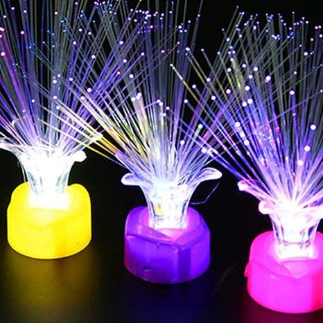 Mobestech 10pcs luz de fibra óptica multicolor tpu fibra brillante ...