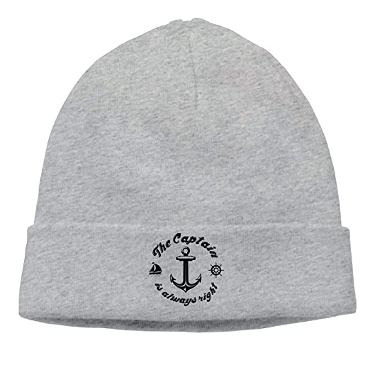 4264a2fd1 The Captain is Always Right Anchor Beanie Hat Knit Skull Caps Male ...