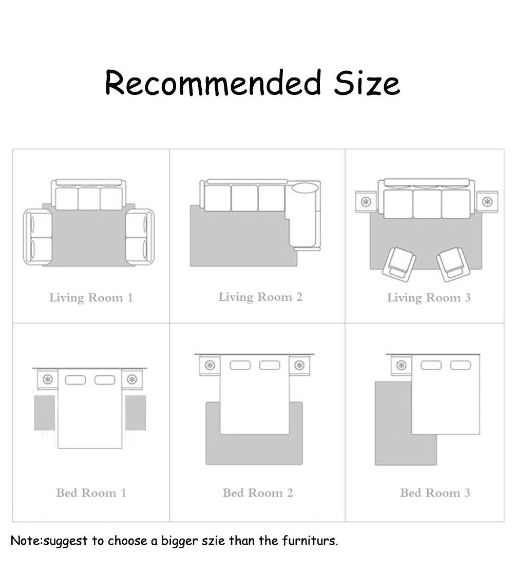Ommda Teppiche Wohnzimmer Wohnzimmer Wohnzimmer Blaume Digitales Drucken Kurzflor Teppich Antirutsch Abwaschbar Farbeful 160x230cm B07J4PYGDF Teppiche 325f89