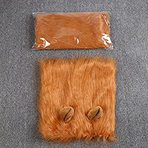 Peluca-de-Leon-Para-Perro-Etpark-Leon-melena-pelo-peluca-con-orejas-Gato-Cachorro-Mascotas-Ropa-Sombrero-Dress-Disfraces-Costume-Para-Navidad-Fiesta-Brown