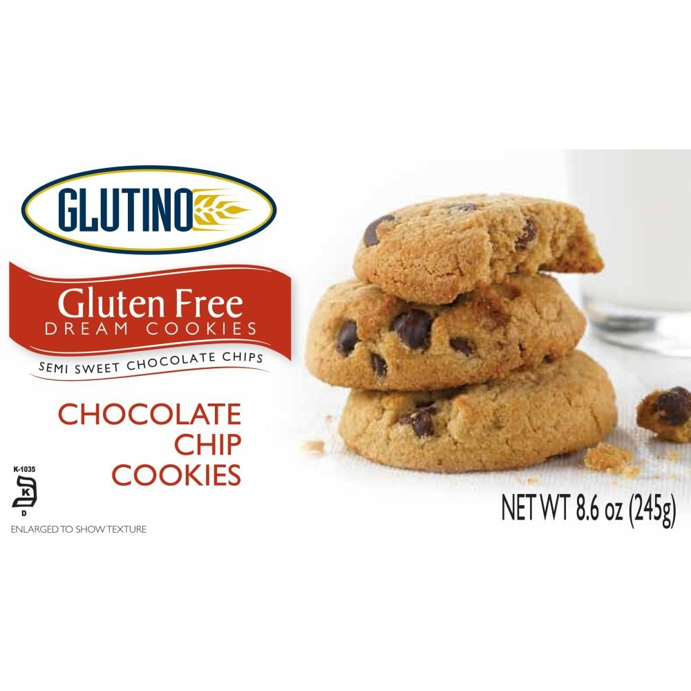 Glutino Chocolate Chip Cookies, 8.6 Ounce -- 12 per case. by Glutino