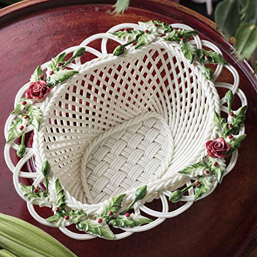 Belleek Basket - Belleek Winter Flower Basket (New for 2019)