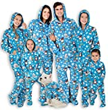 Footed Pajamas - Family Matching Polar Hoodie Onesies for Boys, Girls, Men, Women and Pets (Adult - Medium (Fits 5'8-5'11')) Blue