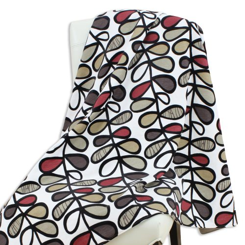 - Brite Ideas Living Amari Ebony/Passion Suede Lichen Topstitched 53 by 60-Inch Throw, Multicolored