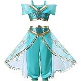 d4849df7fea67 プリンセスなりきり アラビア風お姫様 ハロウィン衣装 Touyoor ジャスミンコスチューム 仮装 女の子 女児 キッズドレス 上下