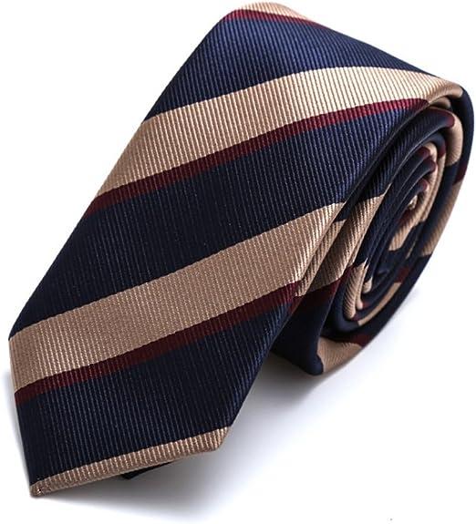 YYB-Tie Corbata Moda Corbata de Raya para Hombres Corbata de Seda ...