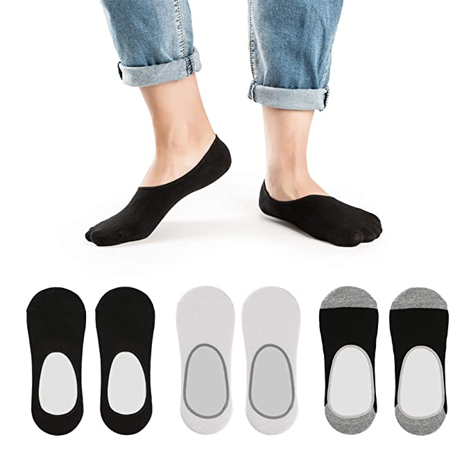 8502911b6 Image Unavailable. Image not available for. Color  No Show Loafer Socks Men  - Low Cut Non Slip ...