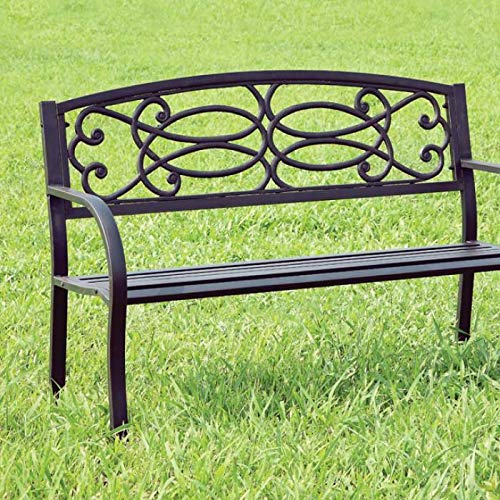 Furniture of America CM-OB1808 Potter Steel Park Seating Bench