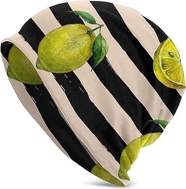 PecoStar - Gorro Fino de algodón elástico Suave, diseño de Calavera, Color limón y Negro: Amazon.es: Ropa y accesorios