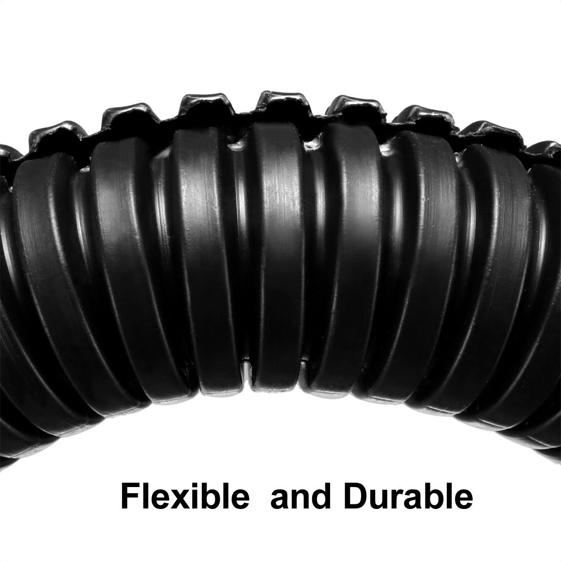 uxcell 1.5M Length 13mm Outside Dia Corrugated Bellow Conduit Tube for Electric Wiring Black a18040300ux0018