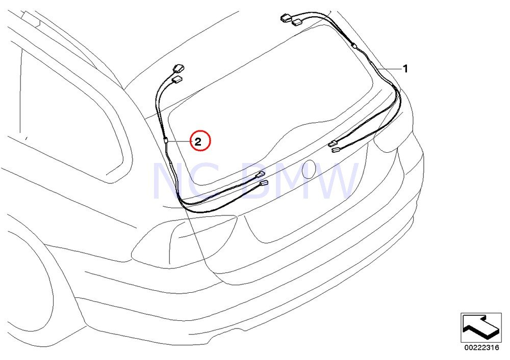 BMW Genuine Hinge On Trunk Lid Rep Wiring Harness Amazoncouk Car Motorbike: BMW Z3 Wiring Harness At Johnprice.co