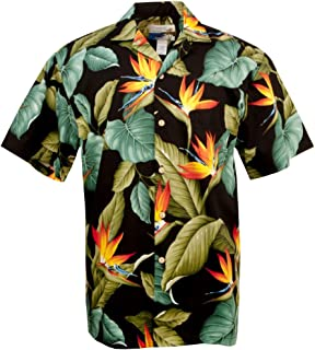 product image for Airbrush BOP - Men's Hawaiian Print Aloha Shirt - in Black