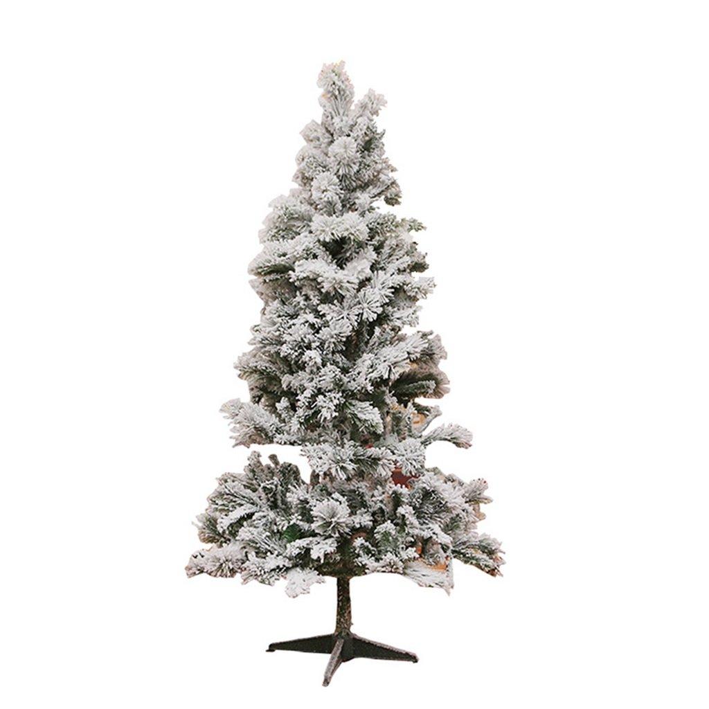 XF Christmas Tree-Christmas Tree White Flocking Snowflake Christmas Tree Christmas Items Simulation Christmas Tree Snow Tree // (Size : 180cm)