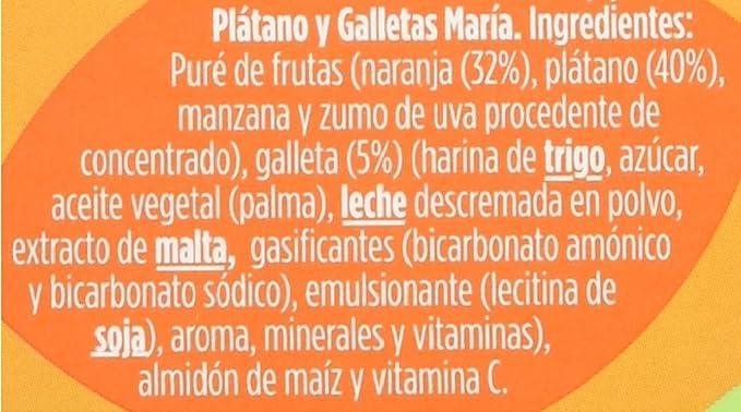 Hero Baby - Babymerienda Naranja Platano Galleta. 2 x 190 g: Amazon.es: Alimentación y bebidas