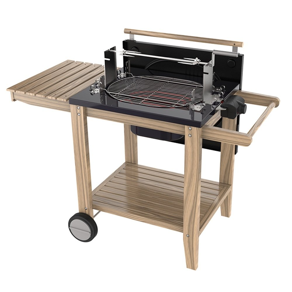 QFFL dainkaolu Barbecue-Herd Multi-Funktions-Grill Car Outdoor Grill BBQ Kohleofen Elektrogrill Electric Carbon Dual-use-Grill