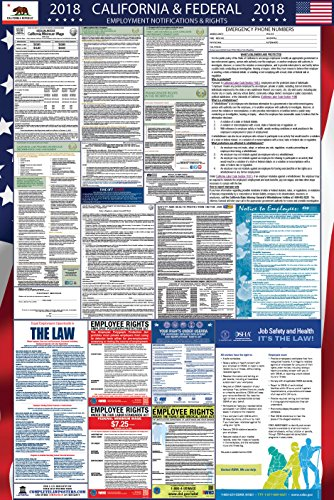 2018 California and Federal Labor Law Poster (Minimum Wage Ca Poster)