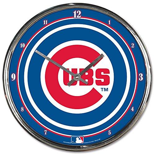 "MLB Chicago Cubs Chrome Clock, 12"" x 12"""