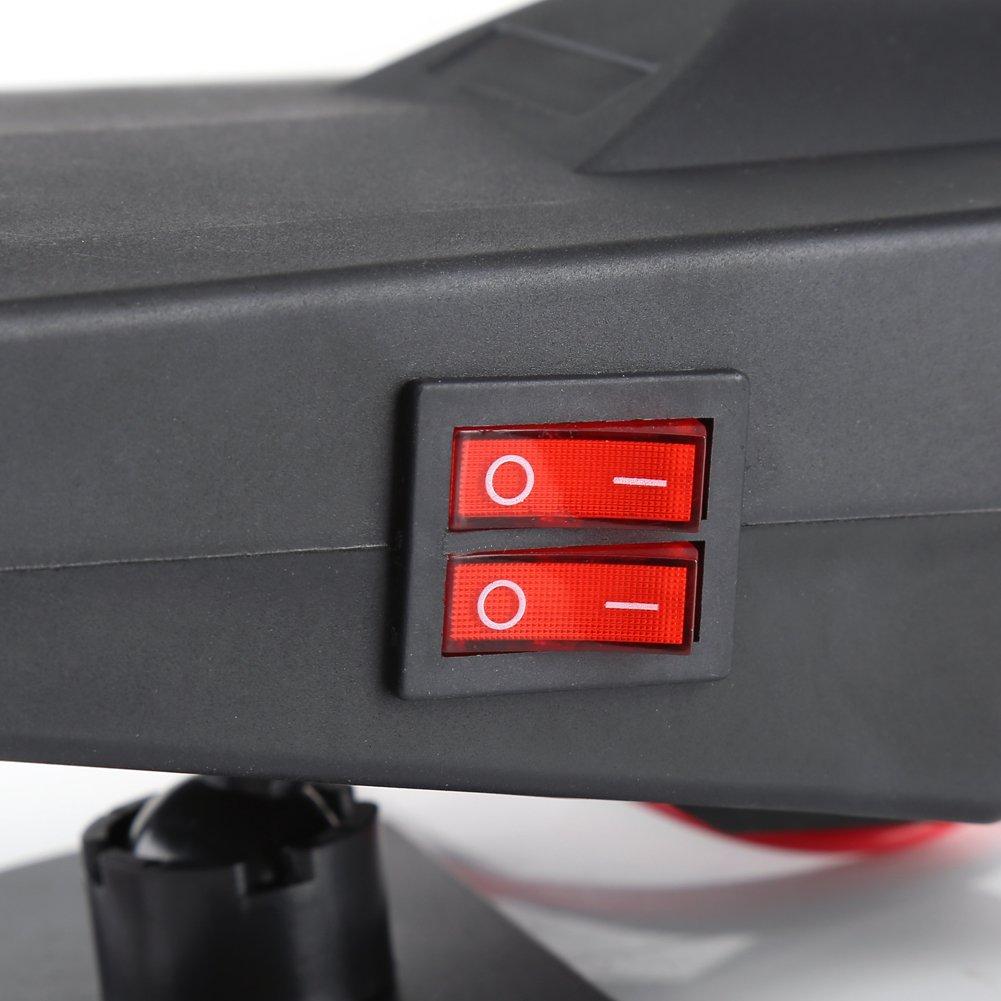 Chauffage Voiture D/égivreur 12V 200W PTC 2 en 1 Ventilateur R/échauffeur de Voiture D/égivreurs Pare-Brise Chauffage Automatique Radiateur Multifonctionnel Fen/être Portable D/ésembuage V/éhicule