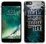 Case for Iphone 6, Iphone 6S Case Bible Verses Christian Quotes 4.7 Inches Hope Is The Only Thing Stronger Than Fear