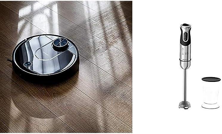 Cecotec Robot Aspirador Conga Serie 3690 Absolute + Batidora de Mano Powerful Titanium 1000: Amazon.es: Hogar
