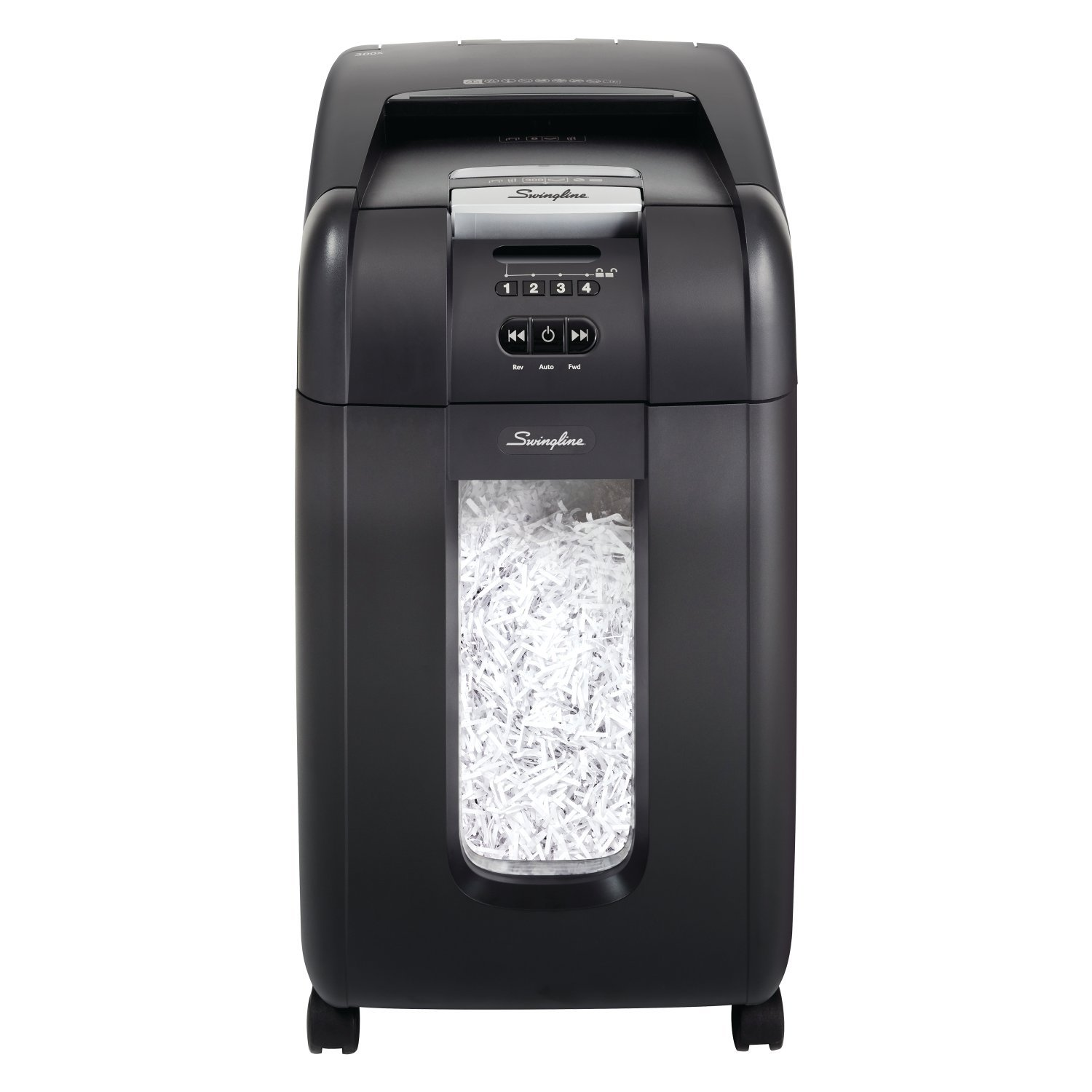 Swingline Paper Shredder, SmarTech Enabled, Auto Feed, 300 Sheet Capacity, Super Cross-Cut, 5-10 Users, Stack-and-Shred 300X (1757576S)