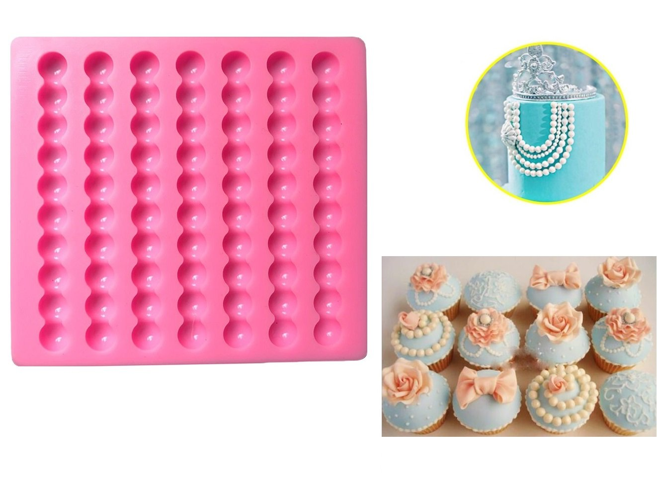 1CM Pearl Silicone Fondant Mold,Cake Decorating /Fimo mold chocolate mold candy mold clay mold Pie Crust fondant mold Palker Sky