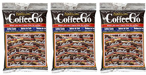 Cappuccino Candy (Coffee Go 3 Pack Special Blend Cappuccino CoffeeGo Hard Candy , 4.05 oz)