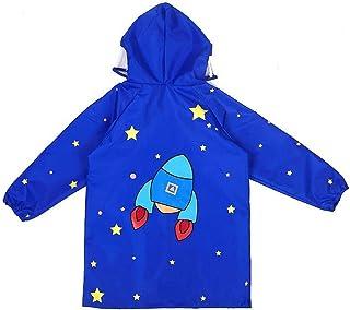 Deylaying Bambini Impermeabile Outwear con Cappuccio Printing Rainwear Poncho Kids Chiusura Lampo di Lighweight Packable Rain Coat