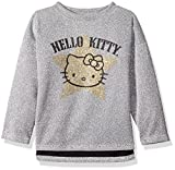 Image of Hello Kitty Big Girls' Metallic Knit Sweatshirt with Glitter Print, Silver, 7