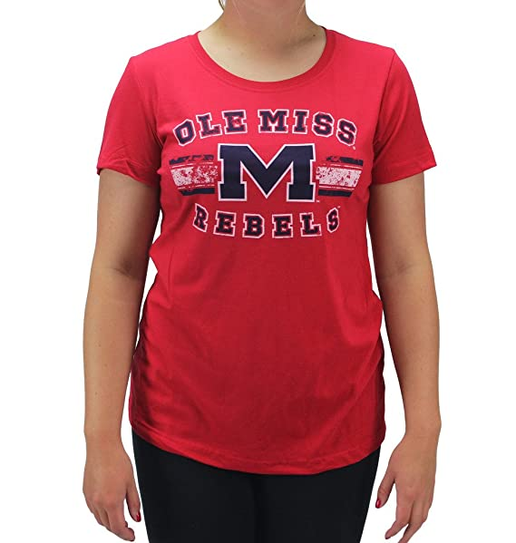 Creative Apparel Women S Ole Miss Om Rebels Red T Shirt At Amazon