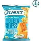 プロテイン チップス チェダーサワークリーム フレイバー クエスト 8袋セット 並行輸入品 Quest Nutrition Protein Chips Cheddar & Sour Cream Pack of 8 海外直送品