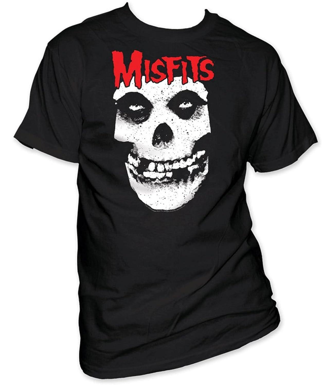 The Misfits - Red Logo Misfits Skull Adult S/S T-Shirt in Black