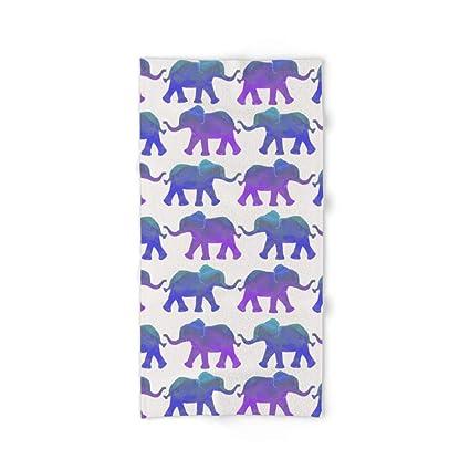 Society6 Follow The Leader – pintado elefantes en color azul, morado, y verde menta