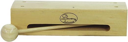 Caja china de madera GILL con baqueta, color natural, laqueado - Instrumento de percusión / Bloque para niños - klangbeisser: Amazon.es: Hogar