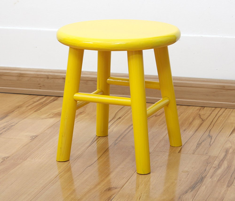 Sigmat Wood Kid Round Stools and Toddler Chair Yellow by Sigmat (Image #3)