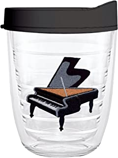 product image for Smile Drinkware USA-PIANO 12oz Tritan Insulated Tumbler With Lid and Straw