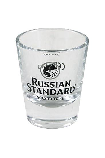 6 Russian Standard Gläser / Shots