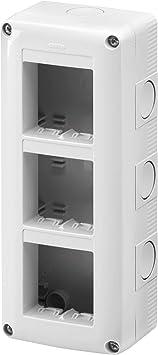 Gewiss GW27022 IP40 caja eléctrica - Caja para cuadro eléctrico (82 mm, 55 mm, 195 mm): Amazon.es: Bricolaje y herramientas
