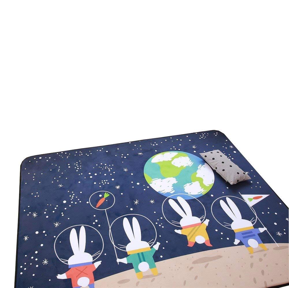 Cusphorn Cute Animals Design Baby Play Mat Cotton Floor Gym - Non-Toxic Non-Slip Reversible Washable