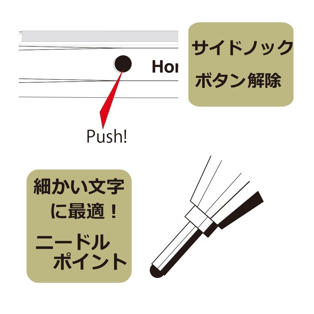 OHTO Needle Point Knock Ballpoint Pen Horizon Eu 0.7mm Ballpoint Silver Body (NBP-587H-SV) by OHTO (Image #3)