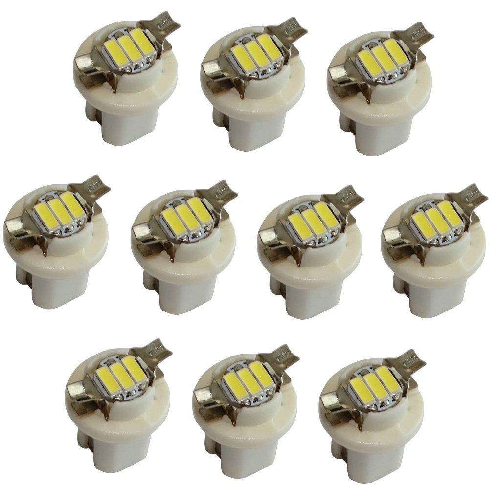 AERZETIX 2x Bombillas B8.5D 12V 1W 3LED SMD luz blanca para salpicadero C19695