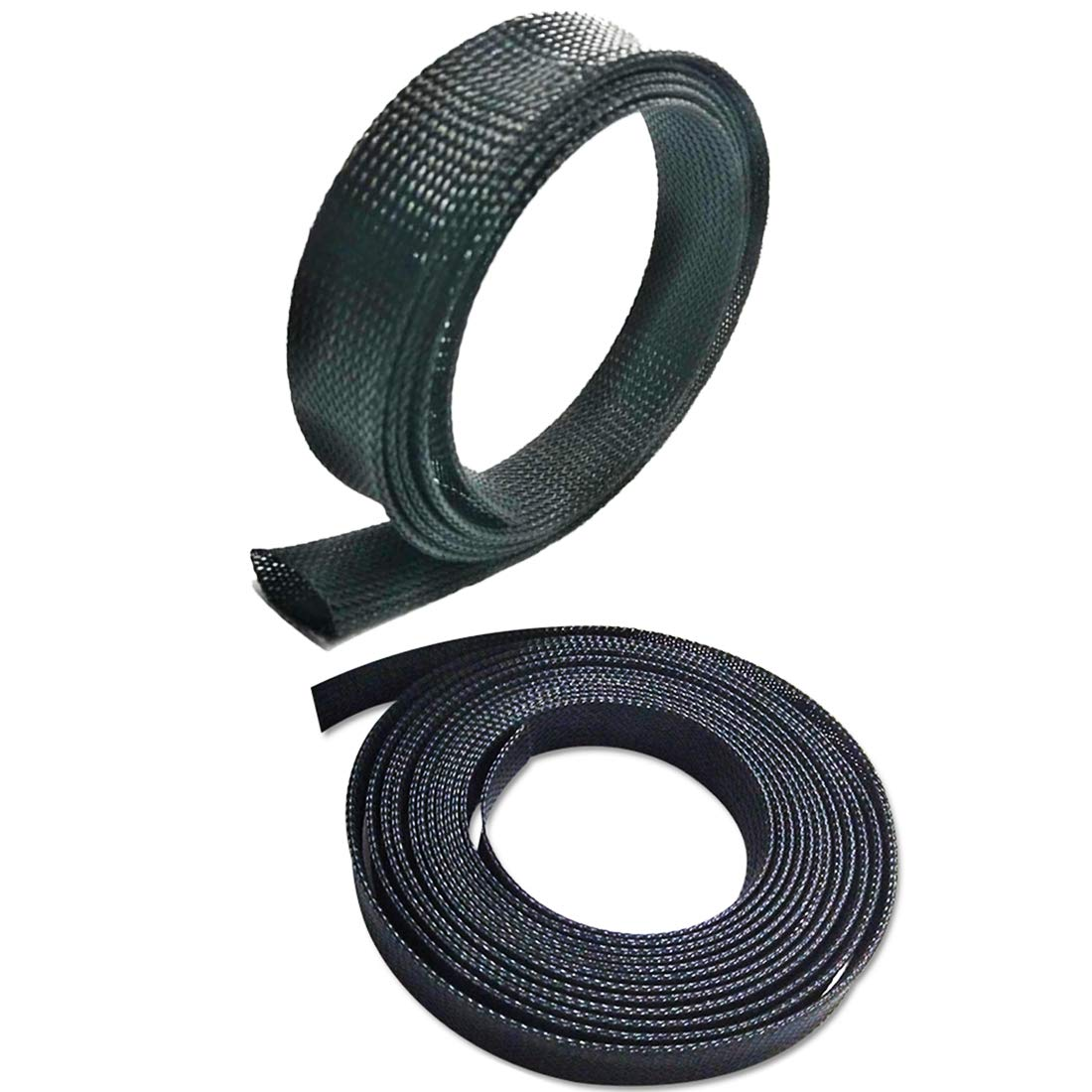 Expandable Cable Sleeving 12.7mm Cable Wire Sleeve1//2 Lime2018 Black, 1//2x 30 FT x 30Ft 9.1m