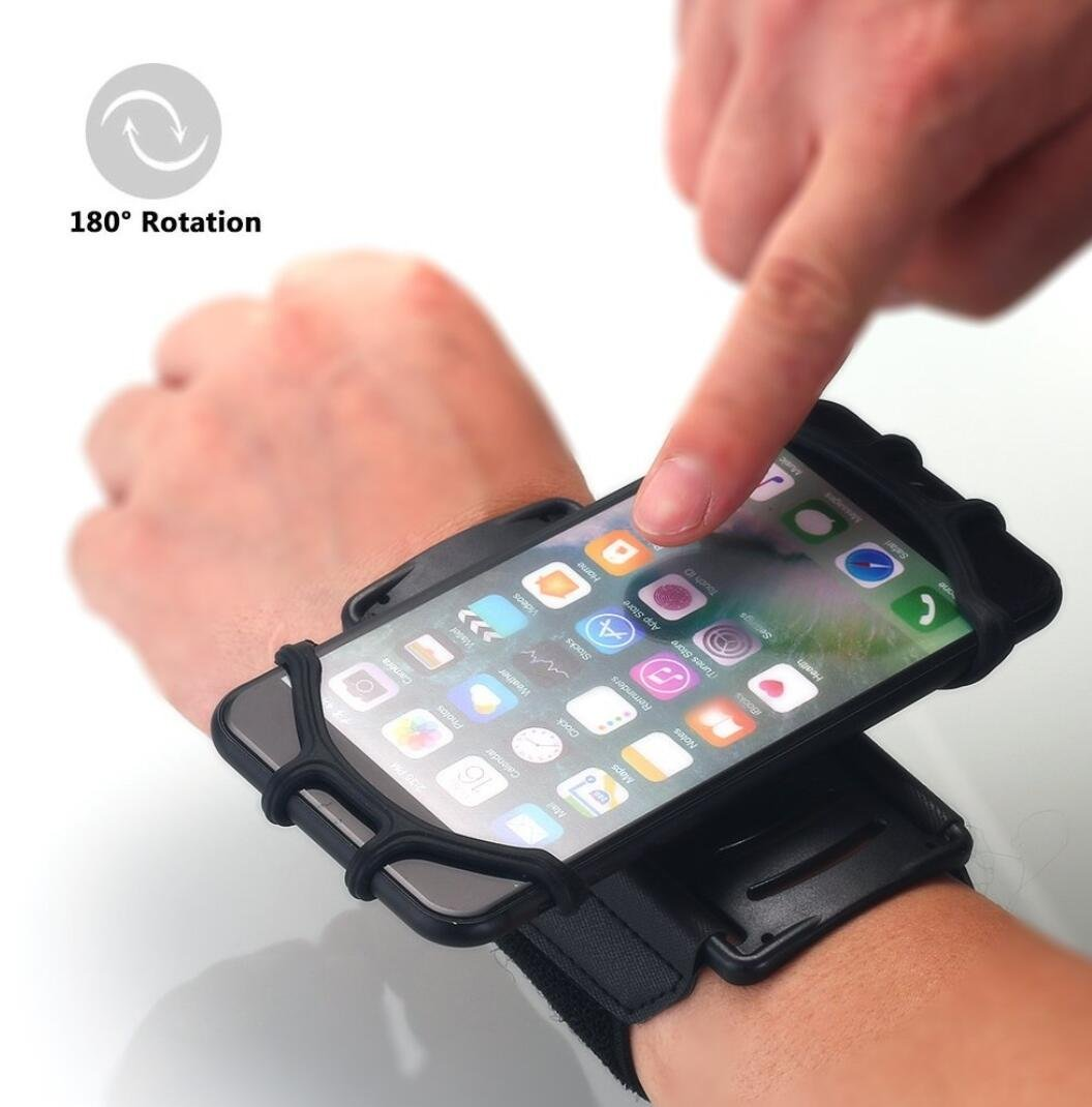 Omio Sports Wristband Cover Case Outdoor Runing Workout Fitness Cycling Portable 180 Rotary Wrist-Mounting Band For iPhone X/8/8 Plus/7/7 Plus Galaxy Note 8/S8/S8 Plus/S9/S9 Plus Fit 4 to 6.3 inch