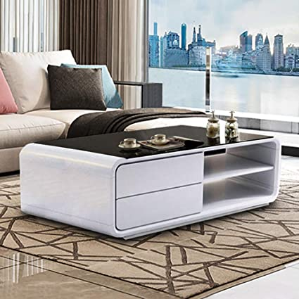 Glass Top Coffee Table With Storage 10