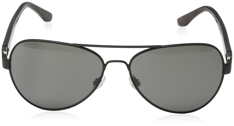 SPINE Lunette de soleil SP4001 001 Aviator - Black/Grey Lens 0WUpGvLF0