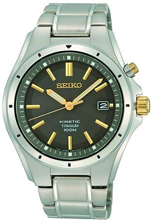 Seiko Hommes Analogique Cinétique Montre avec Bracelet en Acier Inoxydable SKA765P1